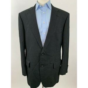 BROOKS BROTHERS SPORT JACKET WOOL CHARCOAL COLOR